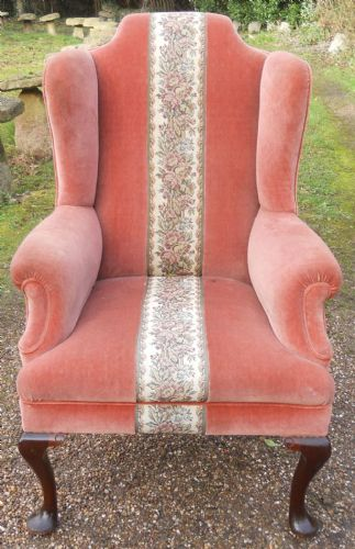 Wingback Upholstered Fireside Armchair